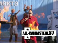 В Саратове каскадер загорелся под Rammstein